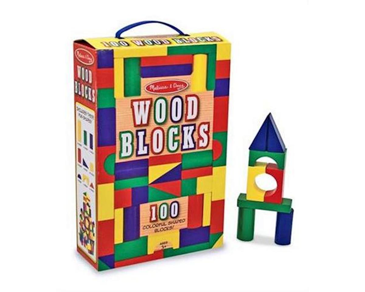 Melissa & Doug  Wood Block Set 100Pc