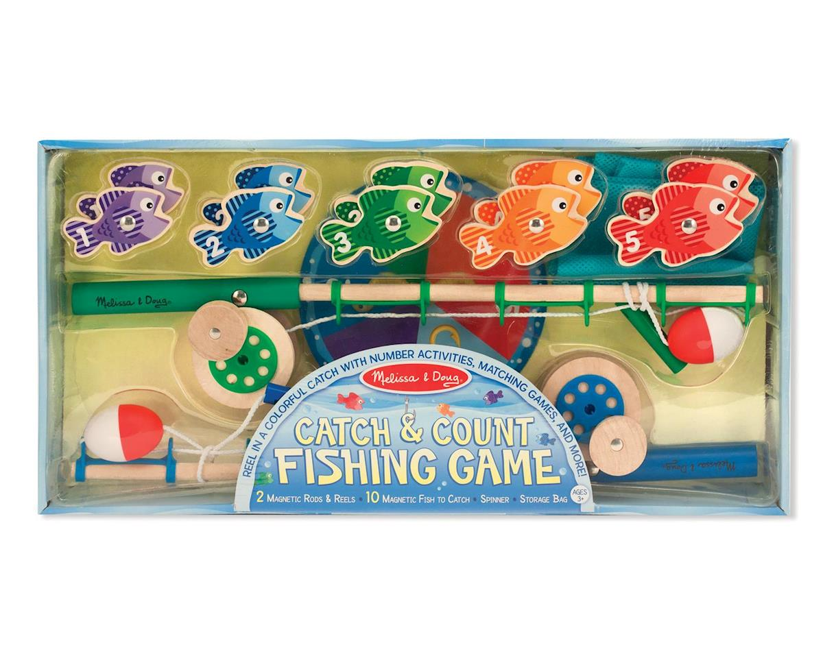 Melissa & Doug Catch&Count Magnetic Fishing Rod Se