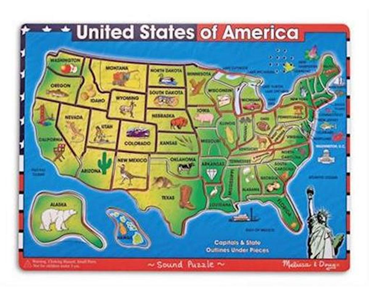 Melissa & Doug  United States Of America Sound Puz