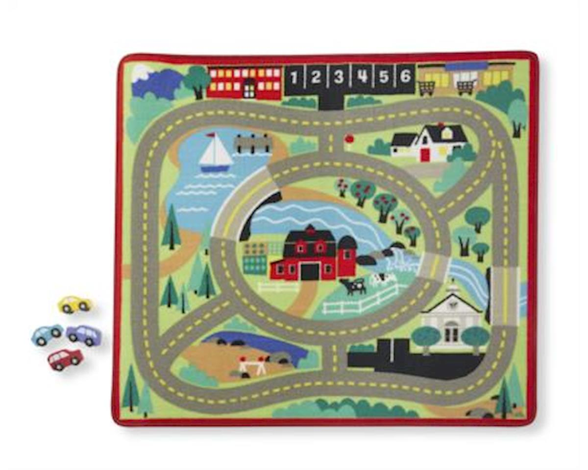 Melissa & Doug Round The Town Road Rug & Car Set
