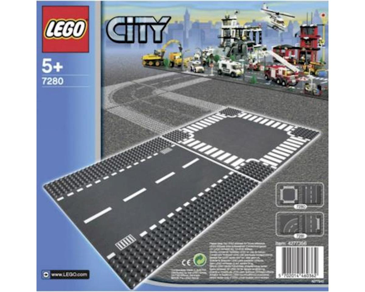 Straight & Crossroad Plates by Lego