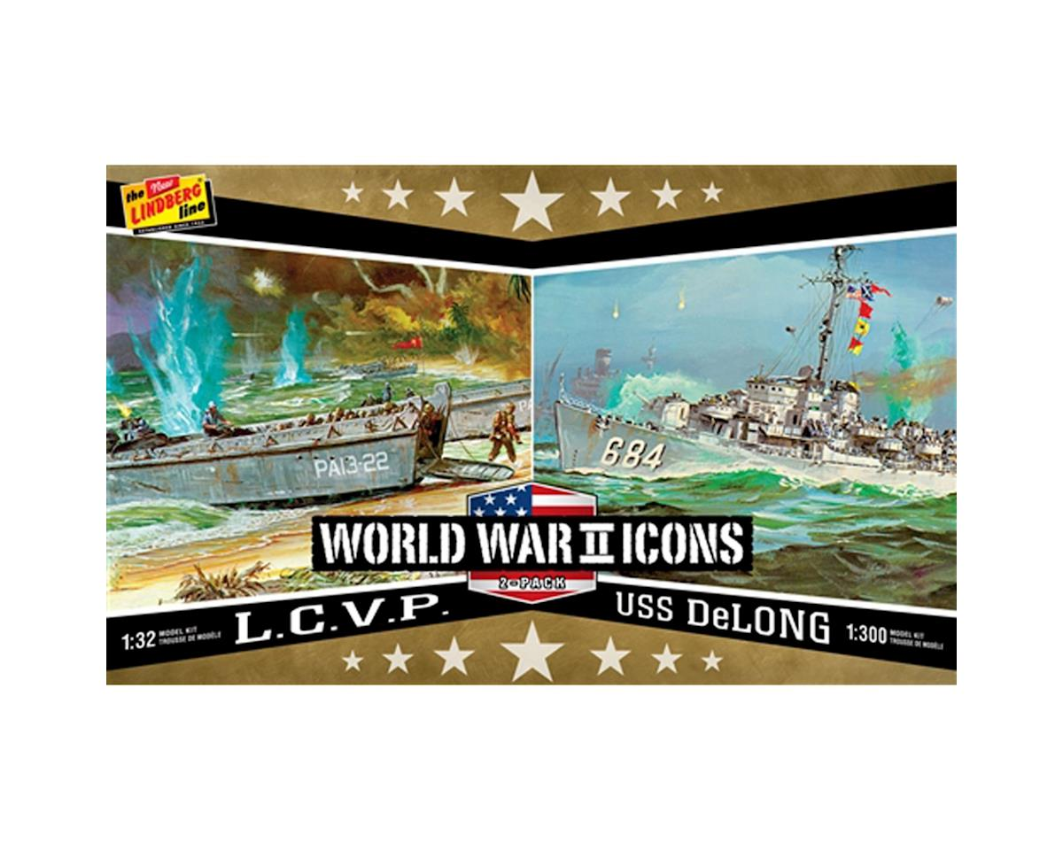 American Icons of WWII L.C.V.P. & USS DeLong