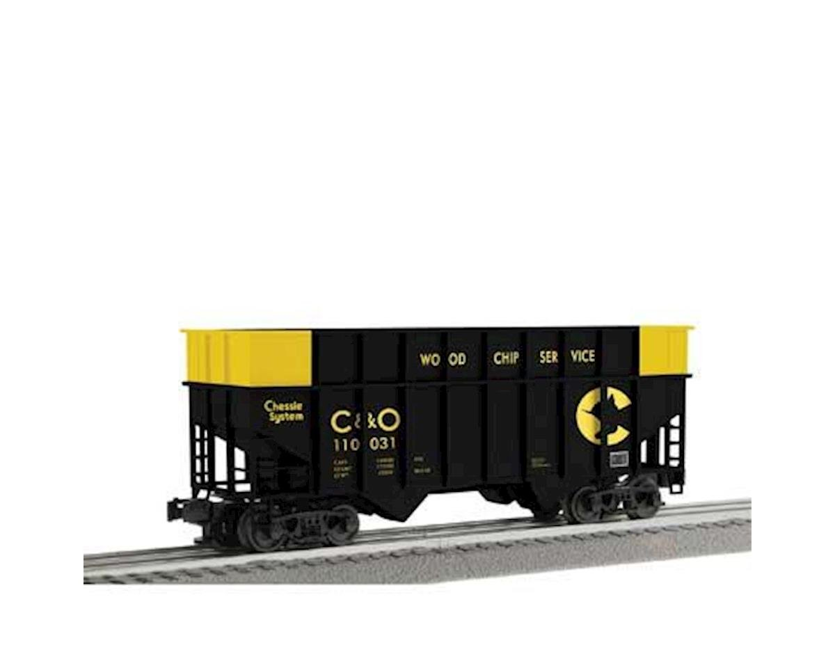 Lionel O ACF 3-Bay Woodchip Hopper, Chessie (6)