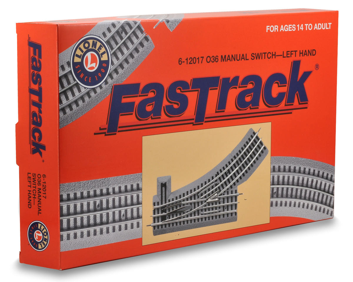 Lionel O-36 FasTrack Manual Left-Hand Switch