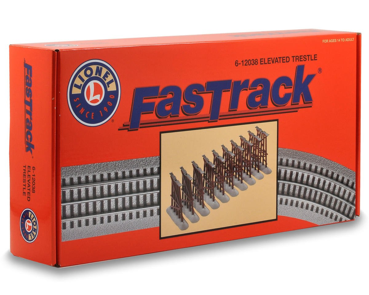 O FasTrack Elevated Trestle Set (10) by Lionel