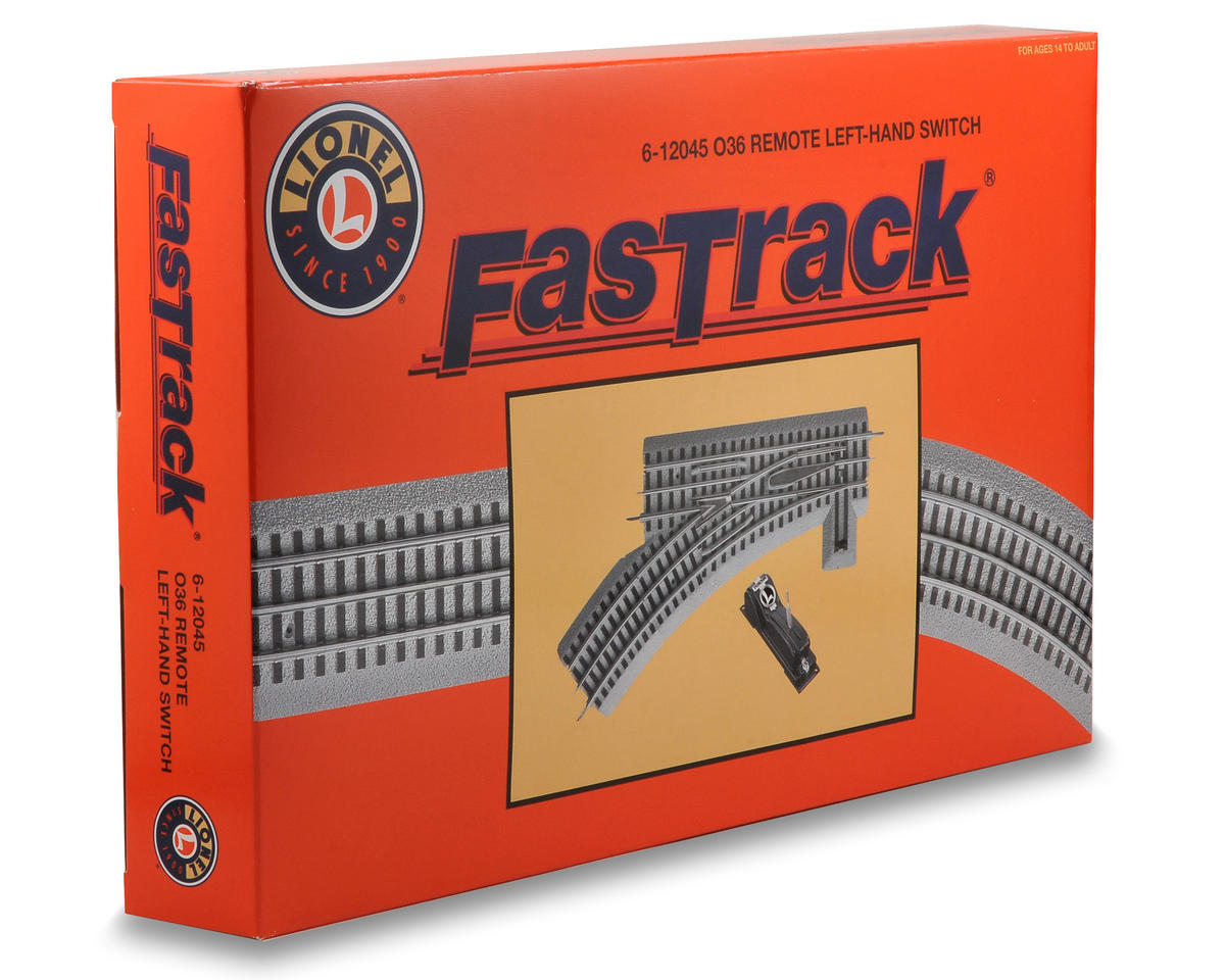 Lionel O-36 FasTrack Remote Left-Hand Switch