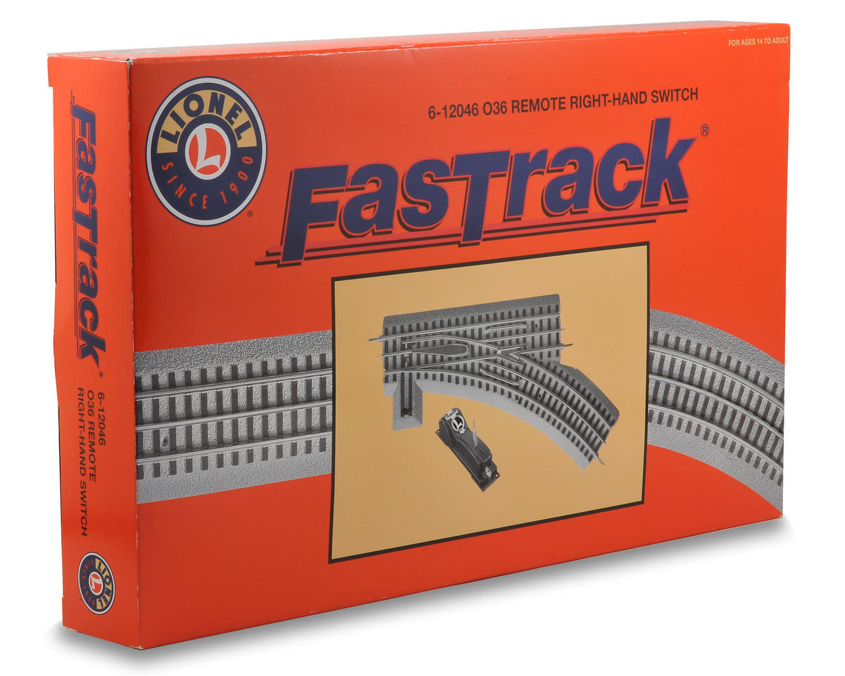 Lionel O-36 FasTrack Remote Right-Hand Switch