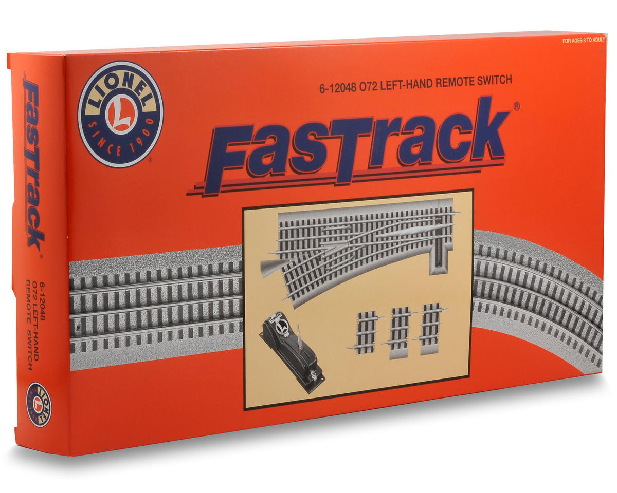 Lionel O-72 FasTrack Remote Left-Hand Switch