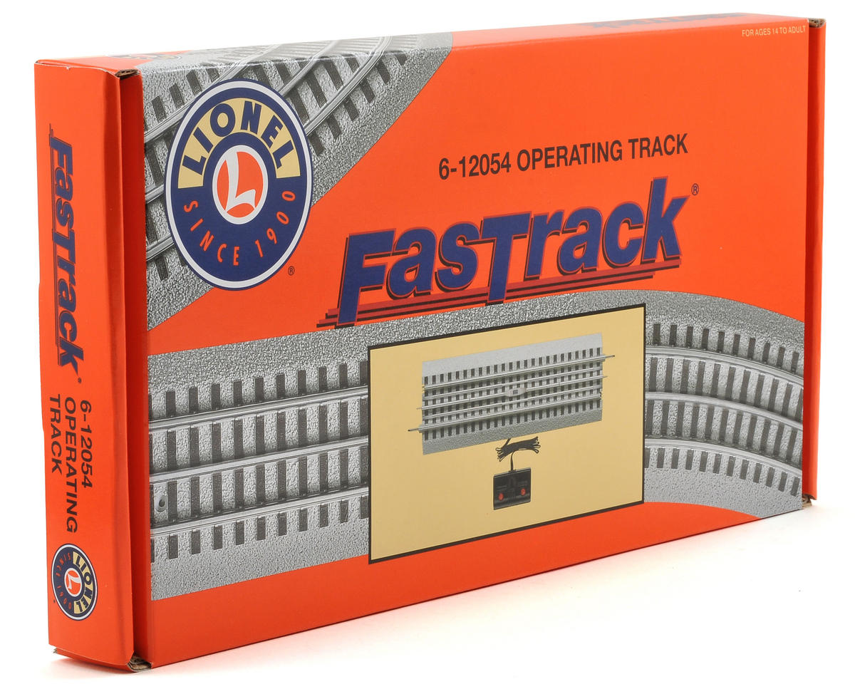 "Lionel O FasTrack Operating Track w/10"" Straight"