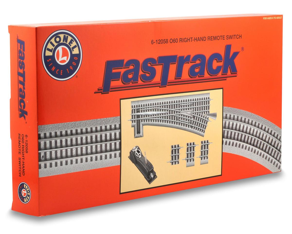 Lionel O-60 FasTrack Remote Right-Hand Switch