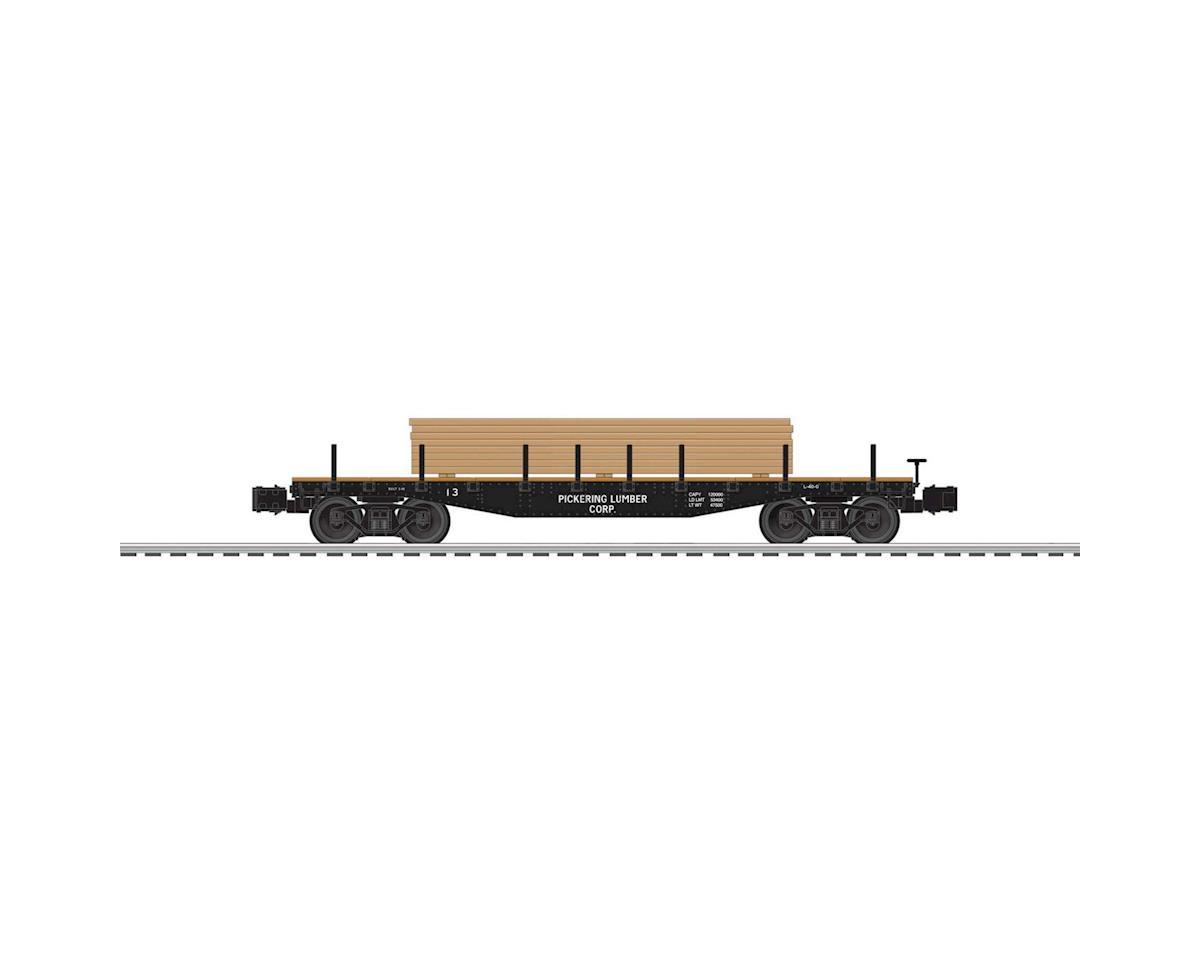 Lionel O 40' Flat w/Lumber Load, Pickering Lumber