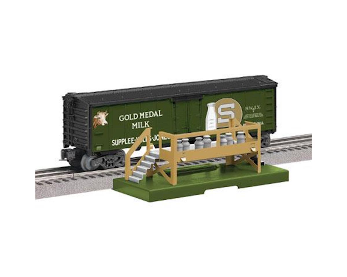 Lionel O Milk Car w/Platform, Gold Medal