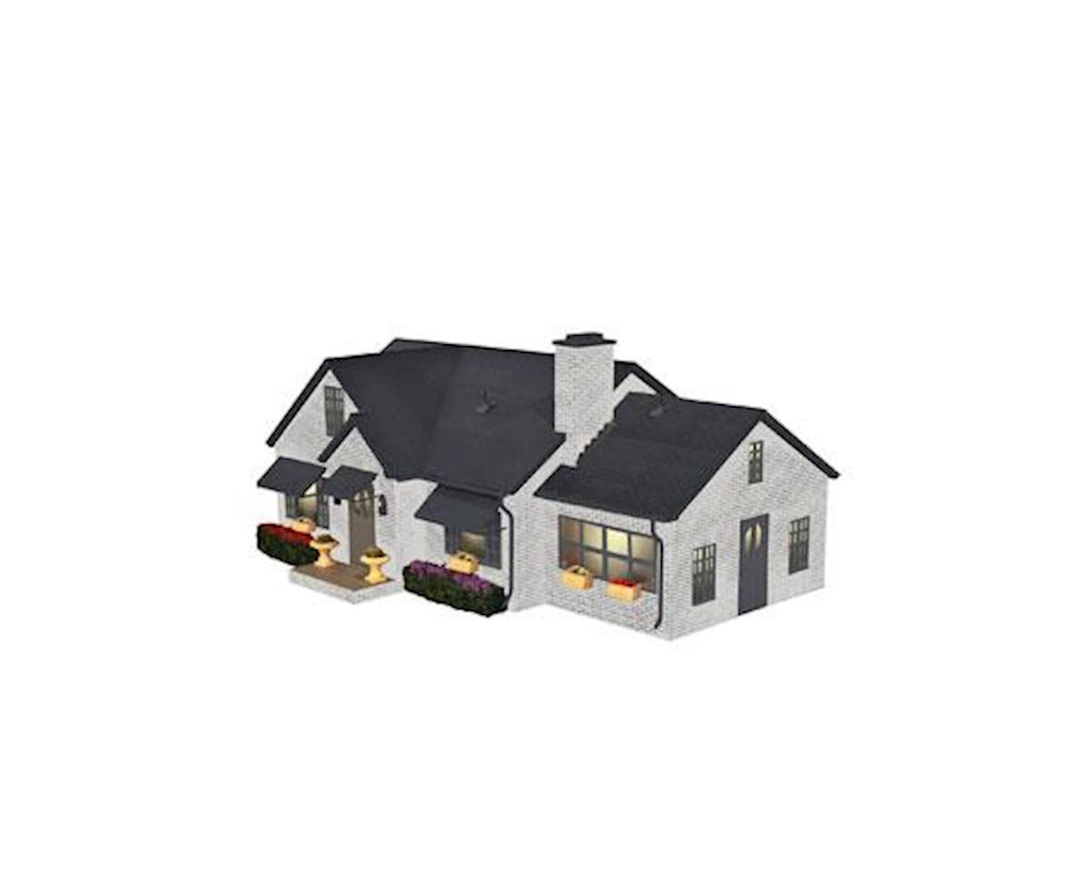 Lionel O Deluxe Suburban House/Plug-Expand-Play