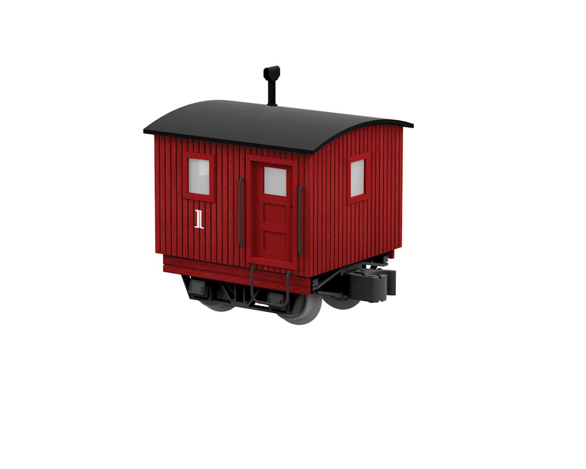Lionel O Logging Disconnect Caboose, Red #1