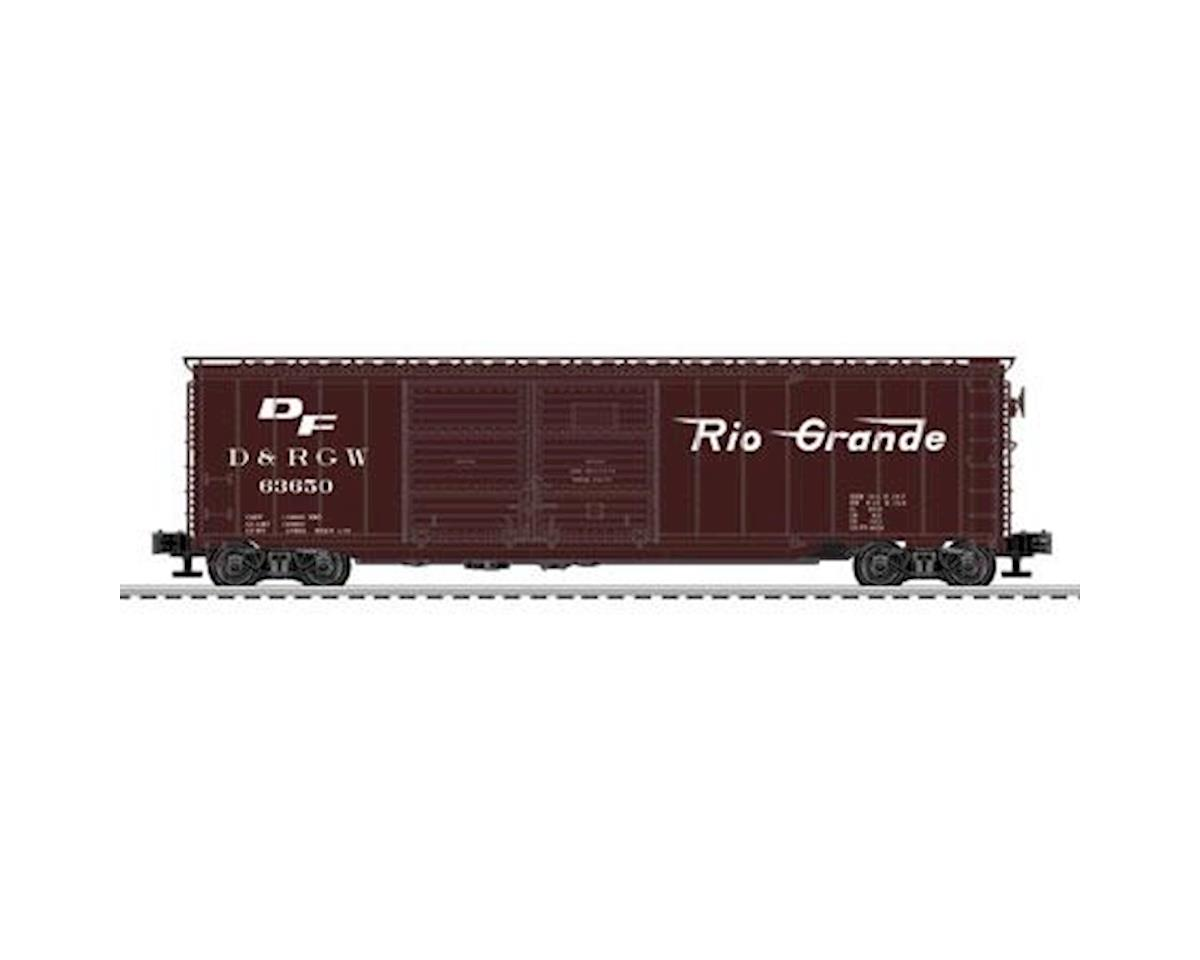 O 50' Double Door Box, D&RGW by Lionel