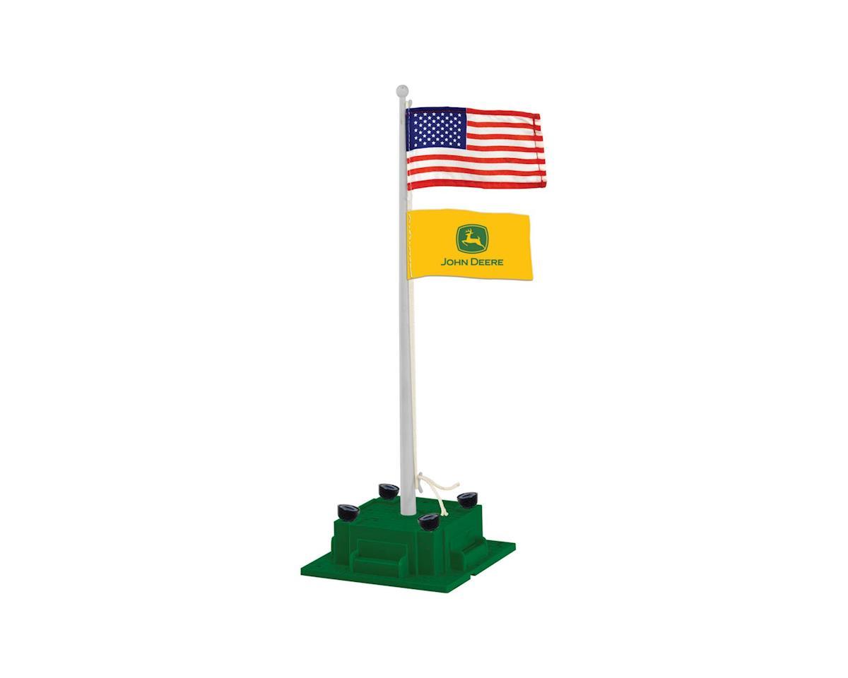 Lionel O Illuminated Flagpole/Plug-Expand-Play,John Deere