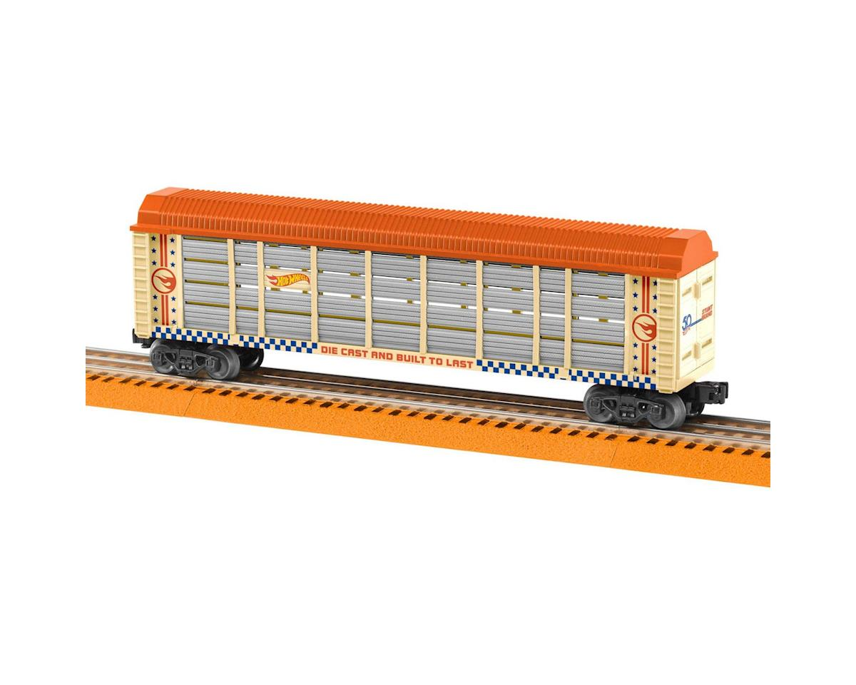 O-27 Auto Rack, Hot Wheels/50th Anniversary by Lionel