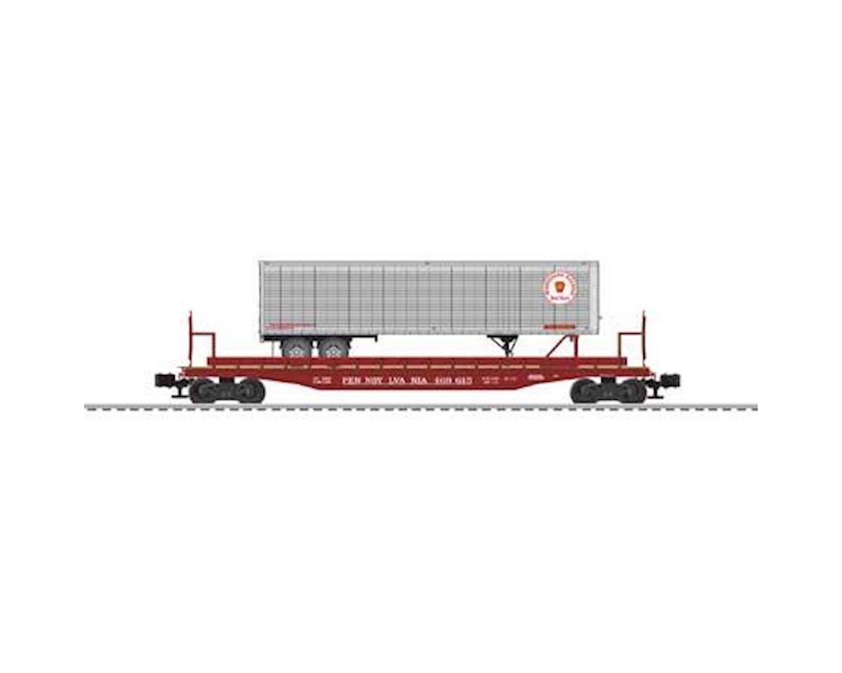 Lionel O 50' Flat w/Trailer,  PRR #469615