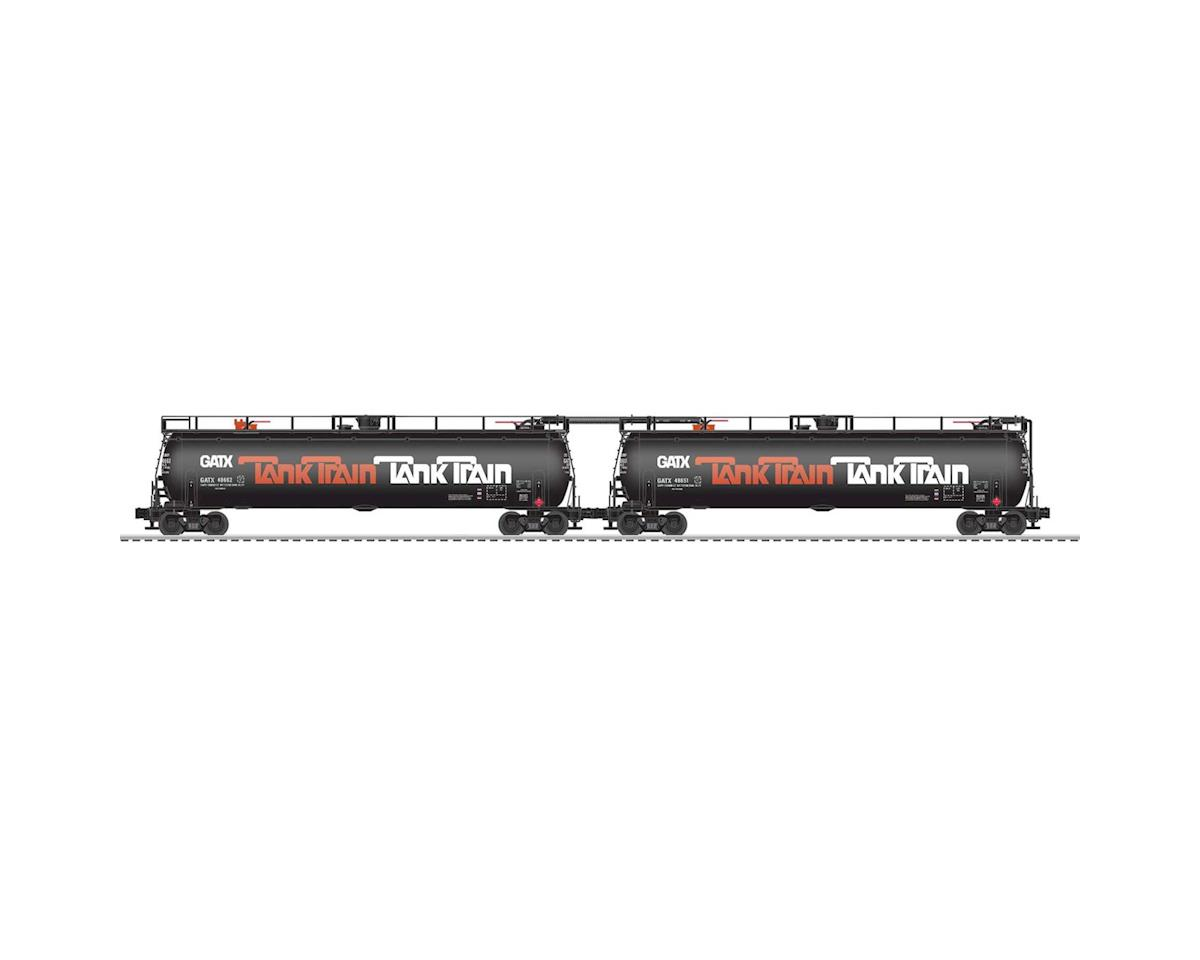 Lionel O TankTrain w/EOT, Orange (2)