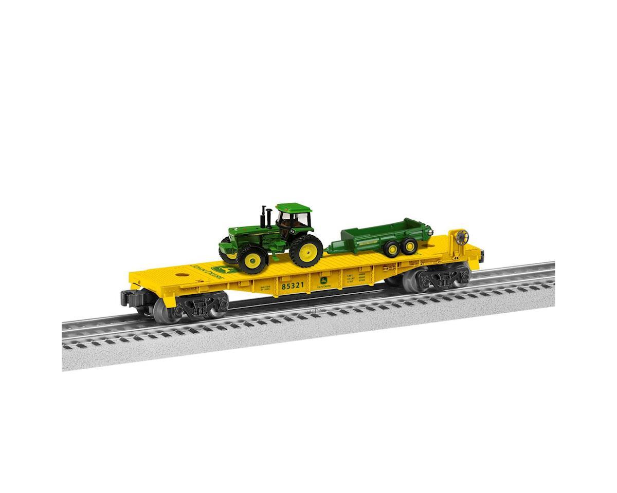 Lionel O-27 Flat w/Tractor Load, John Deere