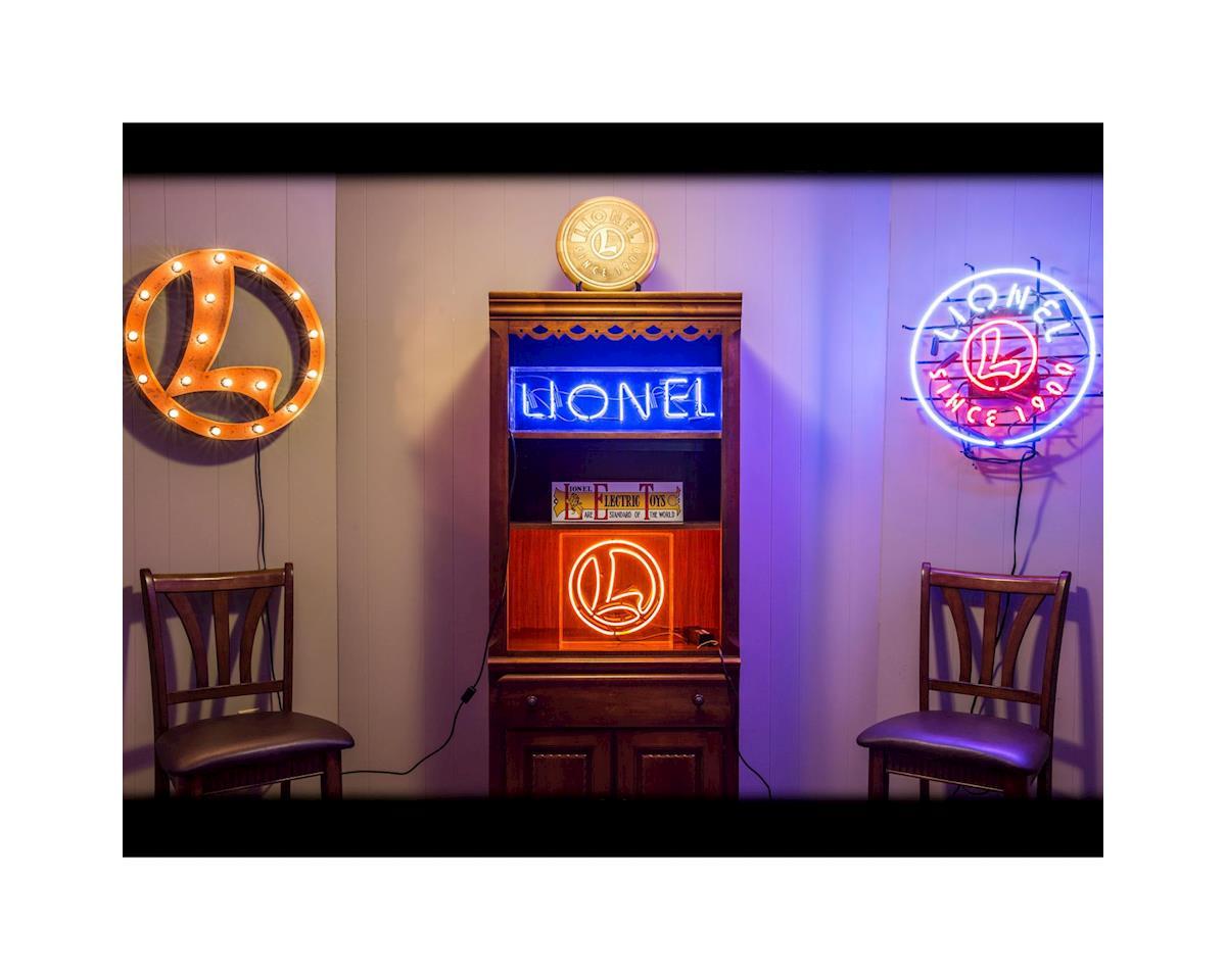 """Lionel Orange Neon """"L"""" Sign"""