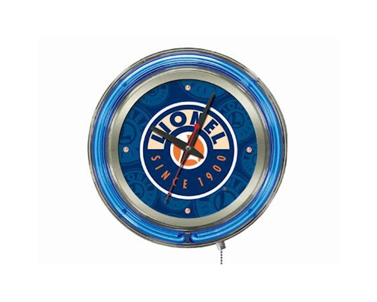 Lionel New Blue Neon Pub Clock