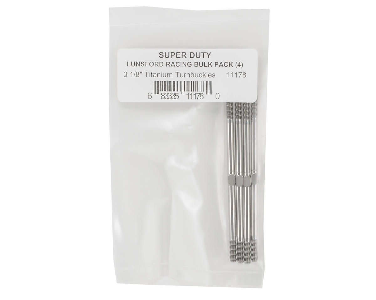 "Lunsford ""Super Duty"" 3.5mm x 3 1/8"" Titanium Turnbuckles (4)"