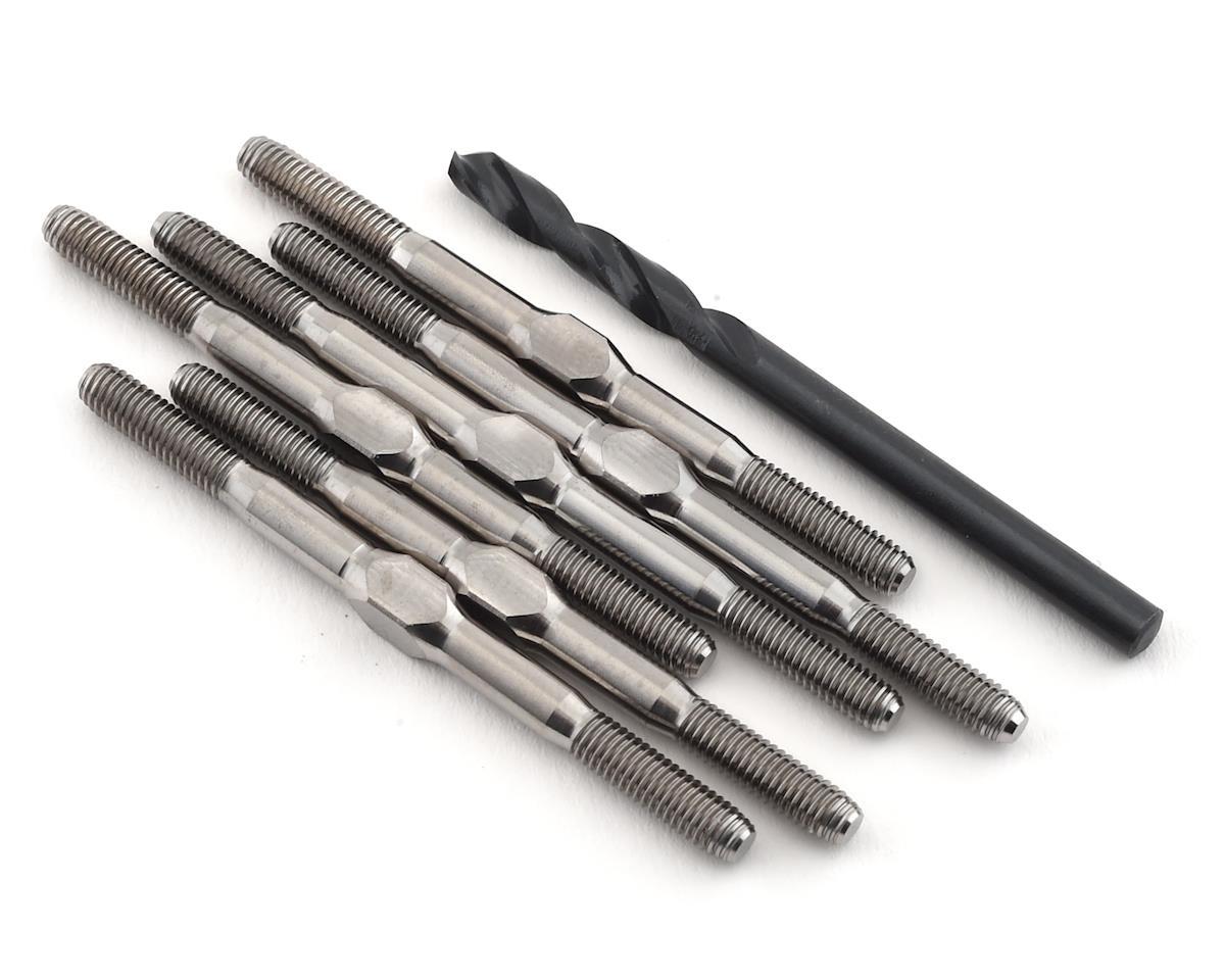 "Lunsford 3.5mm RC10B6.1 Factory Lite ""Super Duty"" Titanium Turnbuckle Set | relatedproducts"