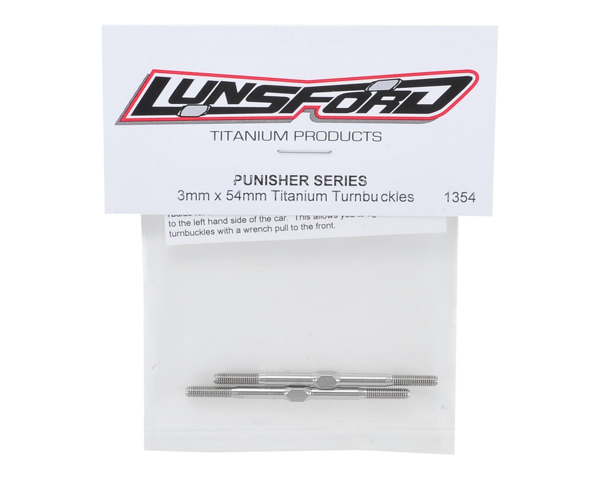 "Lunsford 3x54mm ""Punisher"" Titanium Turnbuckles (2)"