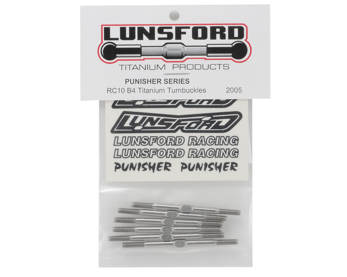 "Lunsford ""Punisher"" B4 Titanium Turnbuckle Kit (6)"