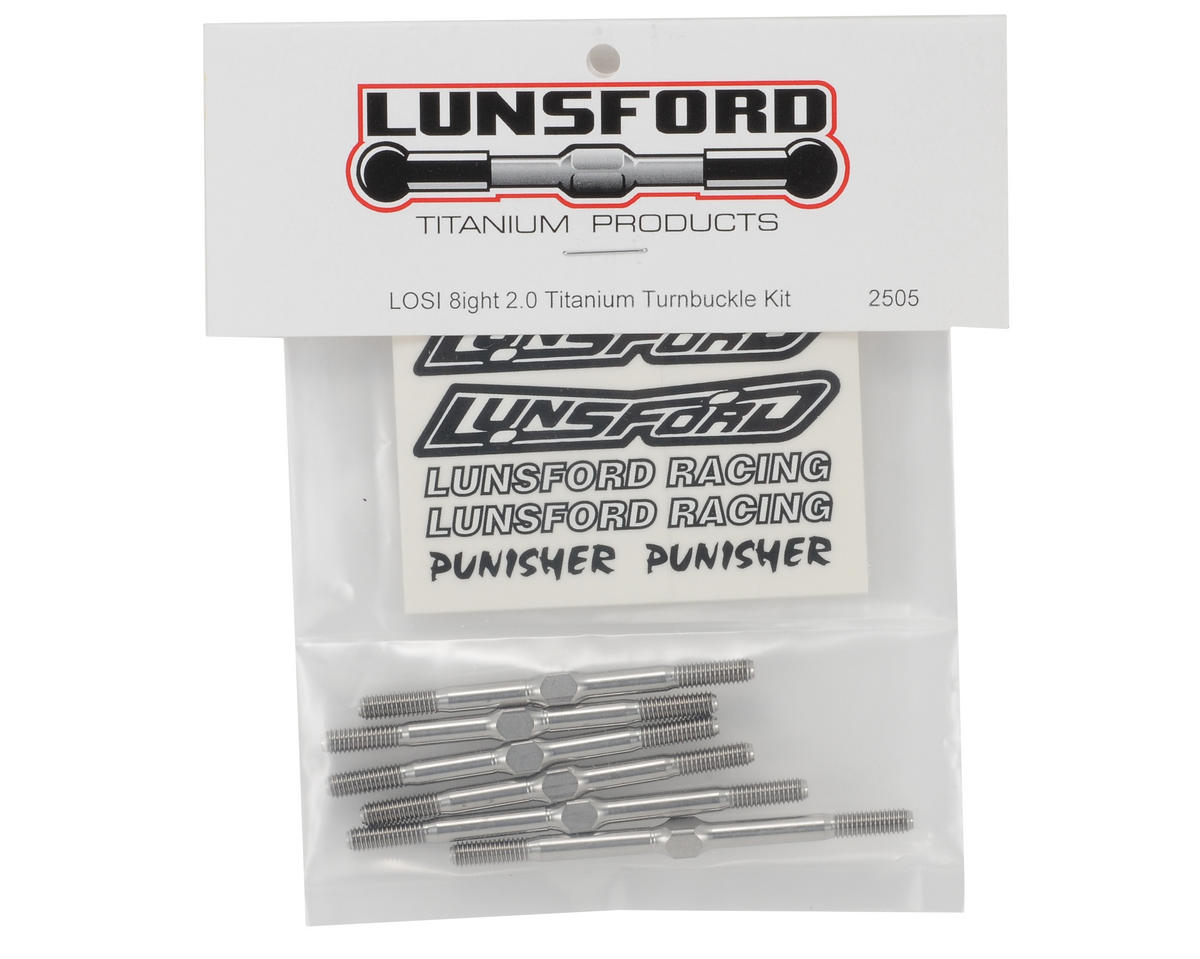 "Lunsford ""Punisher"" Losi 8ight 2.0 Titanium Turnbuckle Kit (6)"