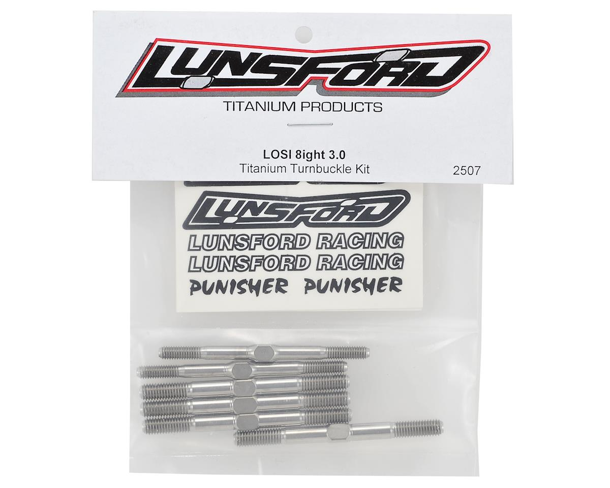 "Lunsford ""Punisher"" Losi 8ight Buggy Titanium Turnbuckle Kit (6)"