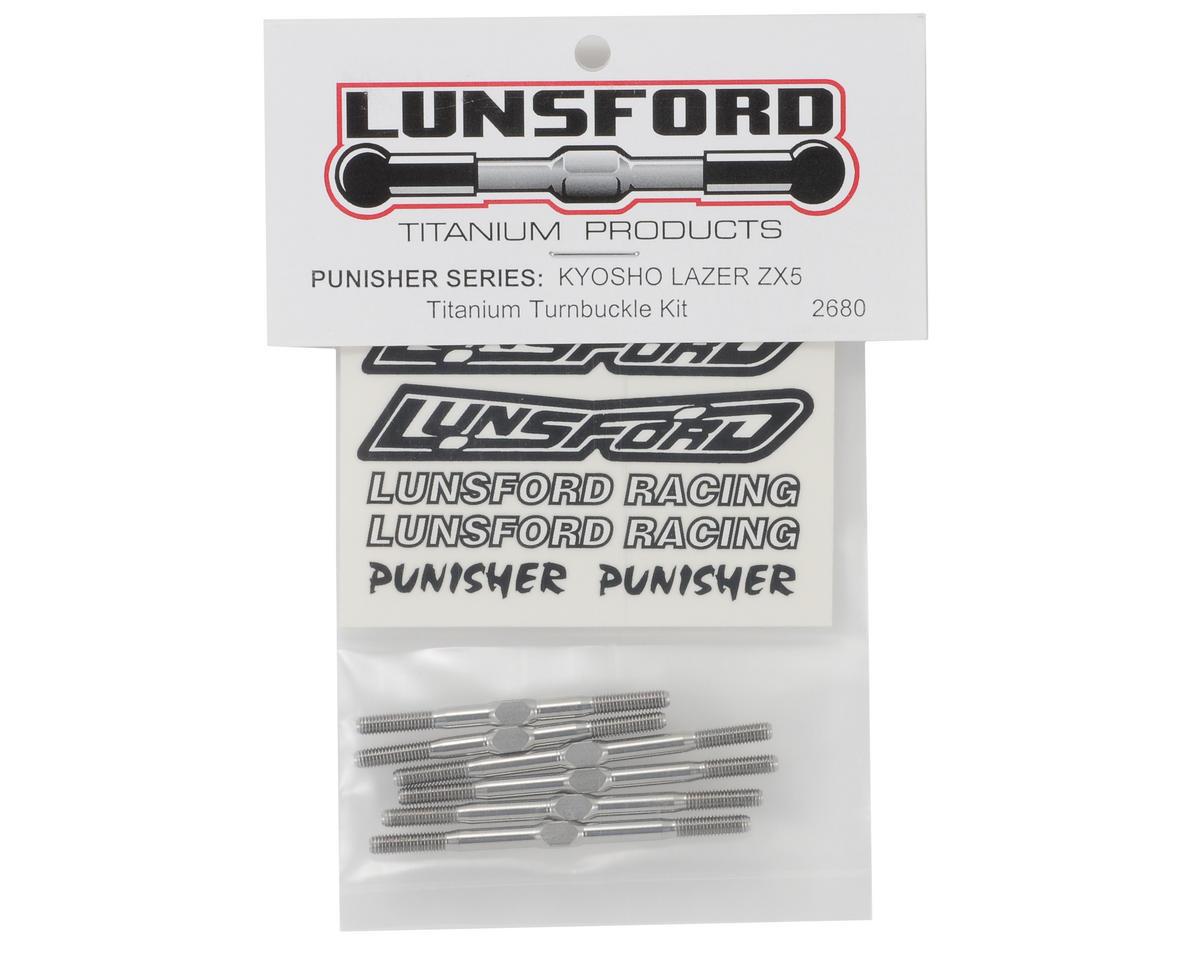 "Lunsford ""Punisher"" Kyosho Lazer ZX-5 Titanium Turnbuckle Kit (6)"