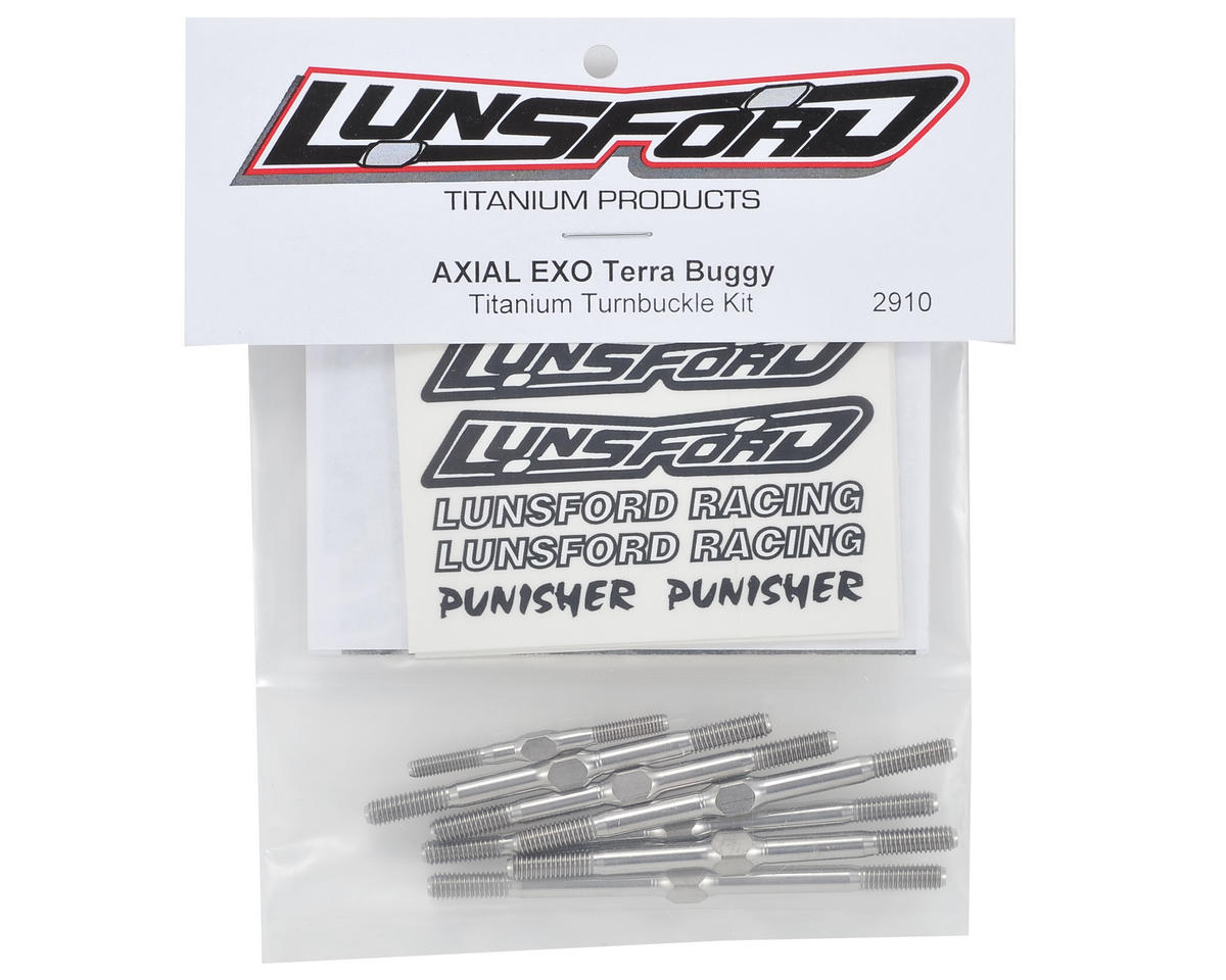 "Lunsford ""Punisher"" Axial EXO Titanium Aluminum Turnbuckle Kit (7)"
