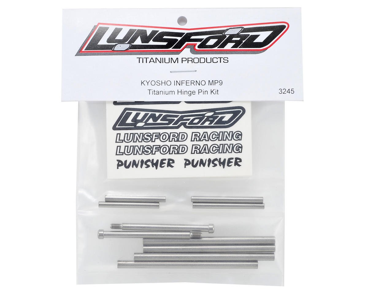Lunsford Kyosho MP9 Titanium Hinge Pin Kit (10)