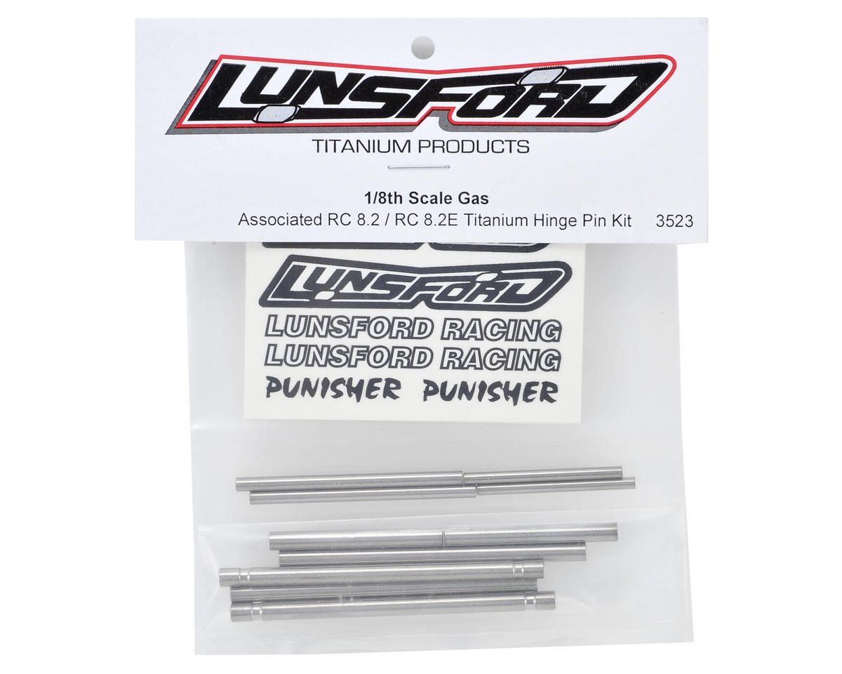 Lunsford Associated RC8.2 Titanium Hinge Pin Kit (10)