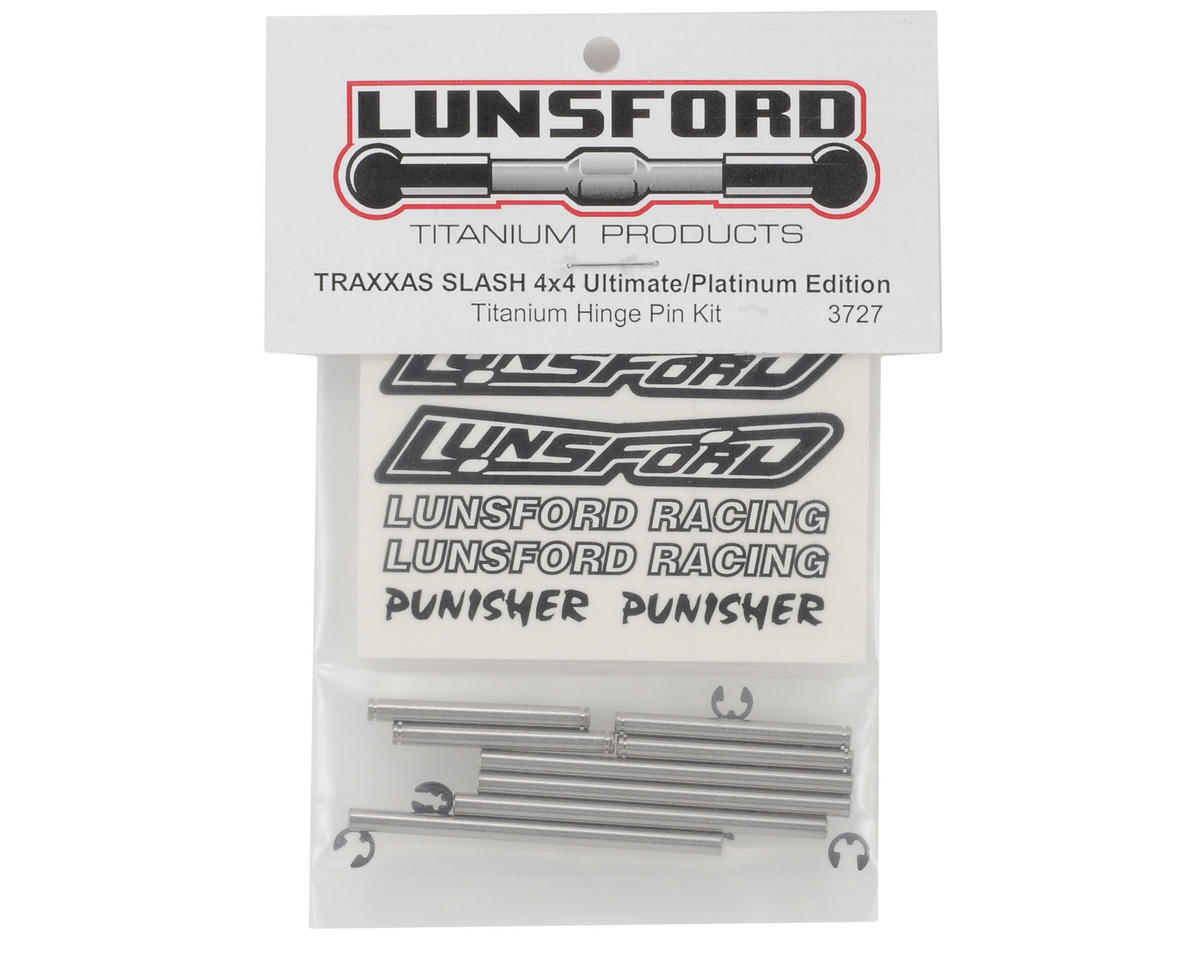 Lunsford Traxxas Slash 4X4 Ultimate/Platinum Edition Titanium Hinge Pin Kit
