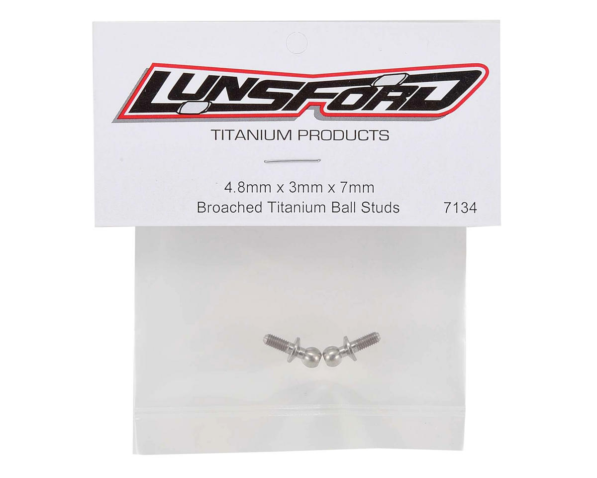 Lunsford 4.8x7mm Broached Titanium Ball Studs (2)