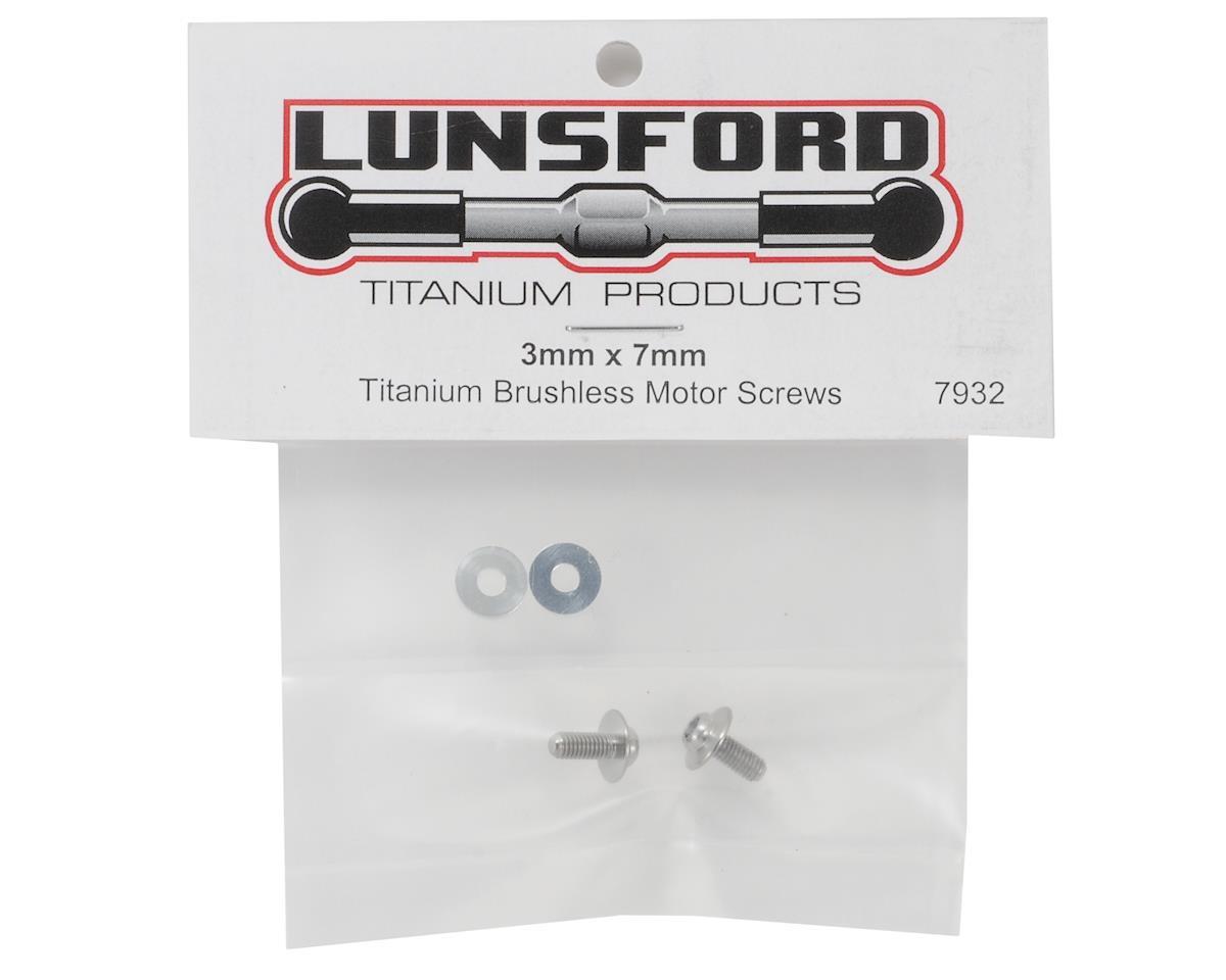 Lunsford Titanium Brushless Motor Screws 3x7mm (2)