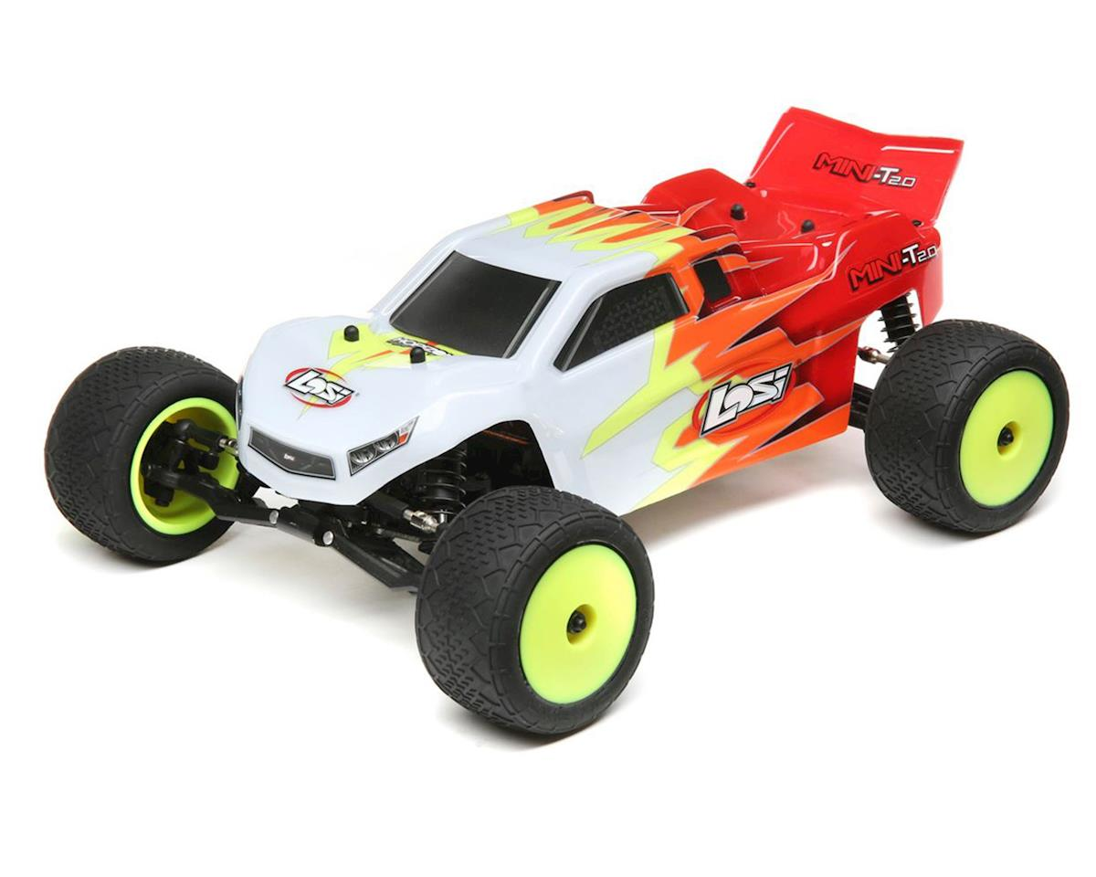 Losi Mini-T 2.0 1/18 RTR 2wd Stadium Truck (Red/White)