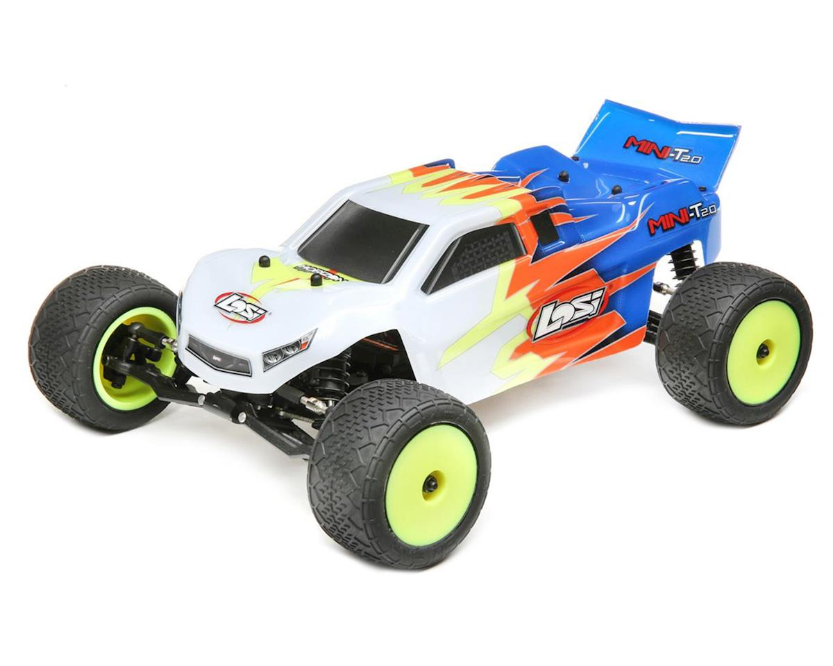 Losi Mini-T 2.0 1/18 RTR 2wd Stadium Truck (Blue/White)