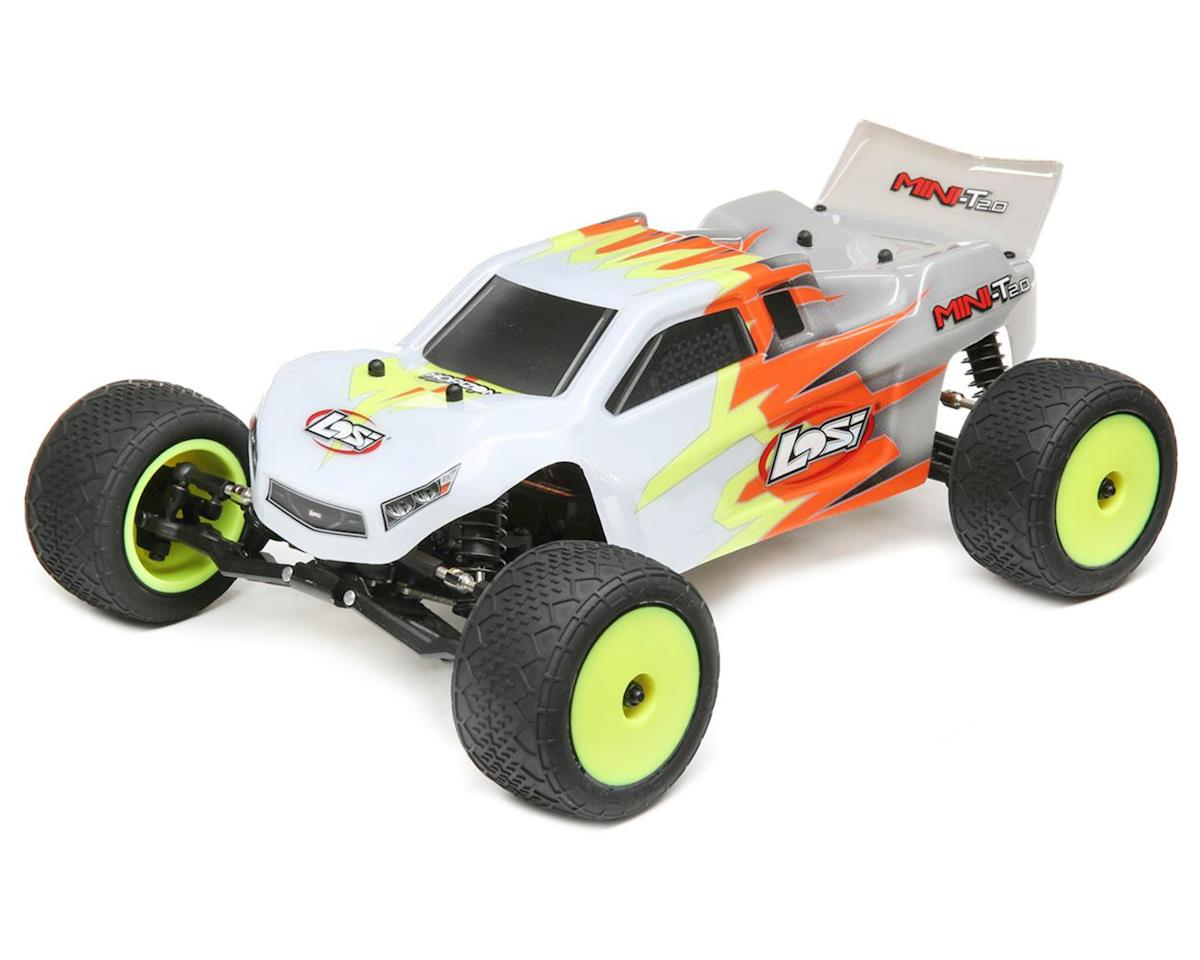 Losi Mini-T 2.0 1/18 RTR 2wd Stadium Truck (Gray/White)