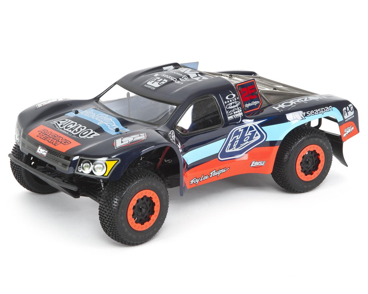 "Losi TEN-SCTE ""Troy Lee Designs"" 1/10 4WD RTR Short Course Truck & Batteries"