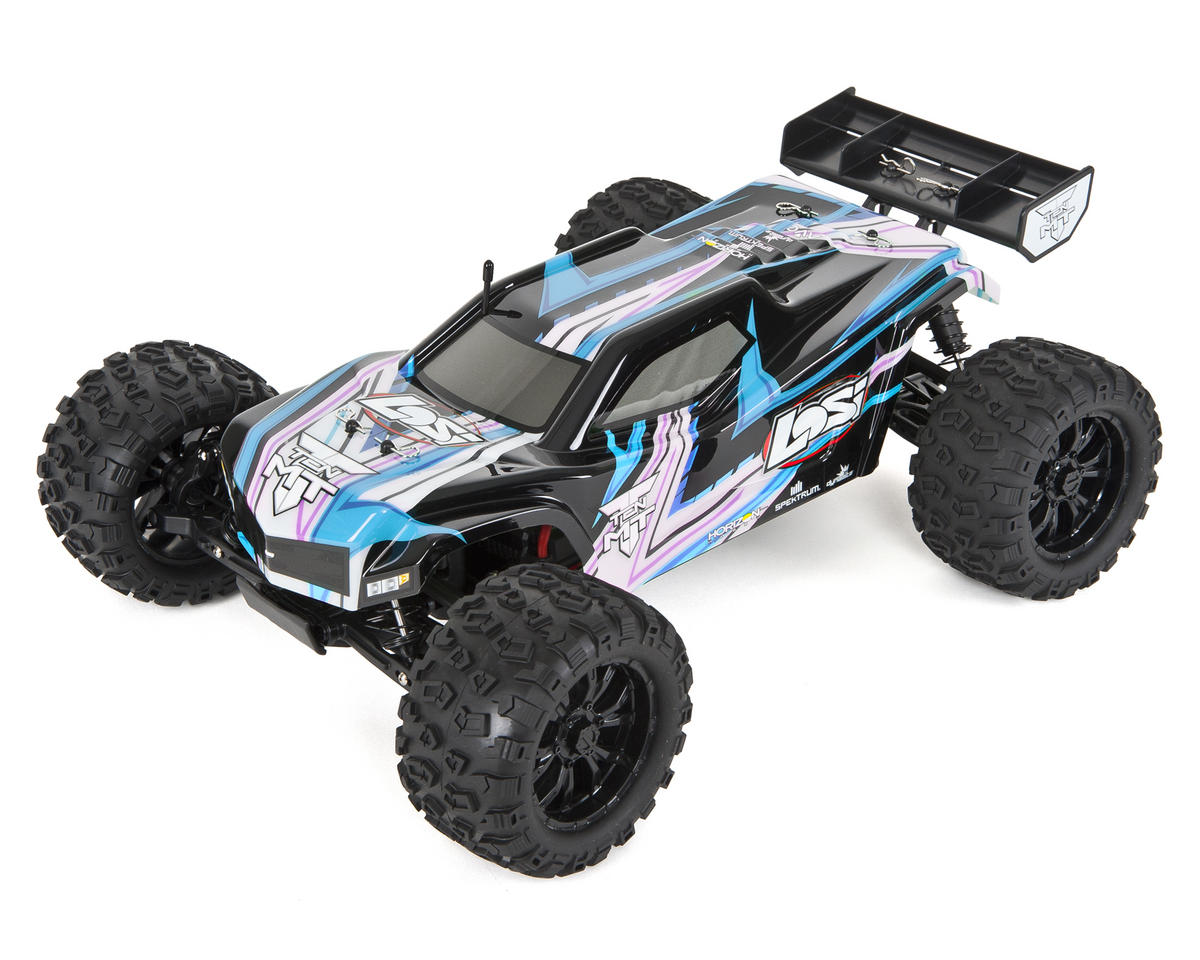 Losi TEN-MT 1/10 RTR 4WD Brushless Monster Truck (Black/Blue)