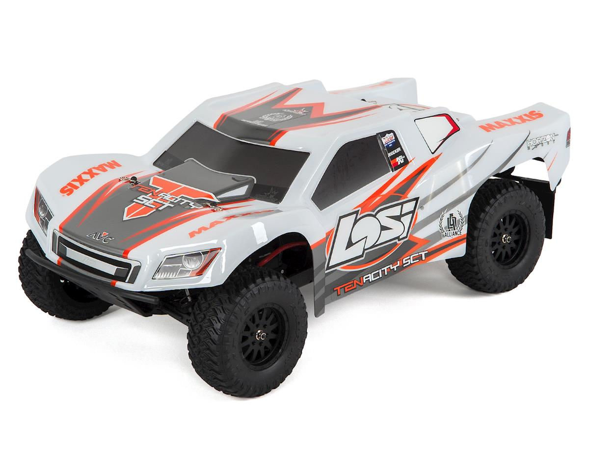 Losi Tenacity SCT RTR 1/10 4WD Brushless Short Course Truck (White/Orange)
