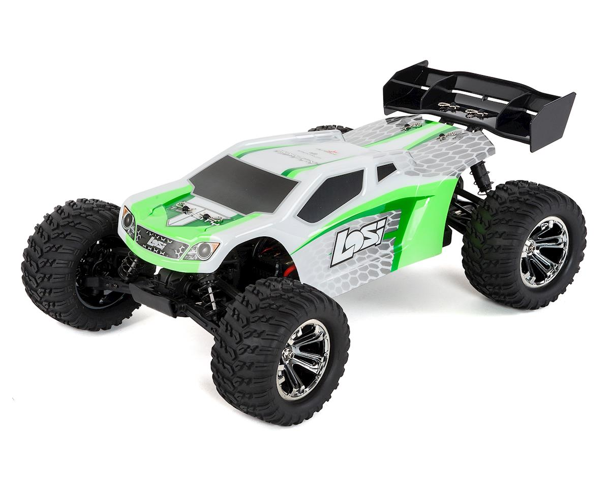 Losi TENACITY 1/10 RTR 4WD Brushless Truggy (White/Green)