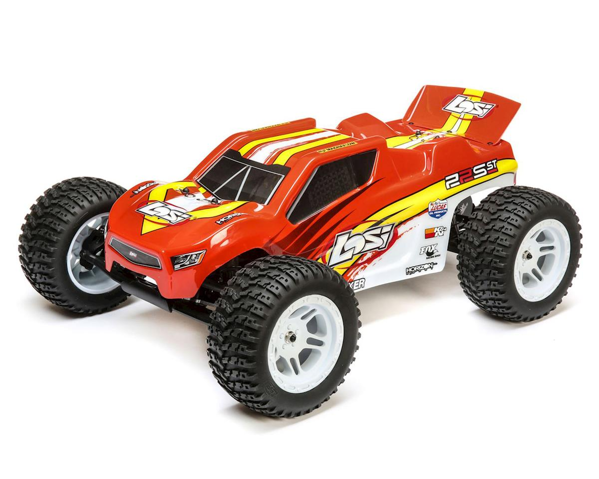 Losi 22S ST RTR 1/10 2WD Brushless Stadium Truck (Red/Yellow)