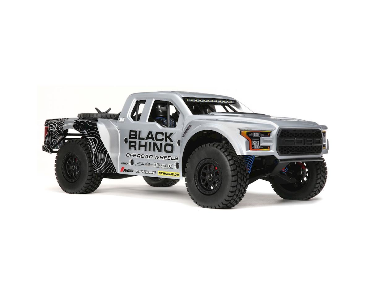 Losi Baja Rey Ford Raptor 1/10 RTR 4WD Brushless Desert Truck (Black Rhino)  w/2 4GHz Radio & AVC