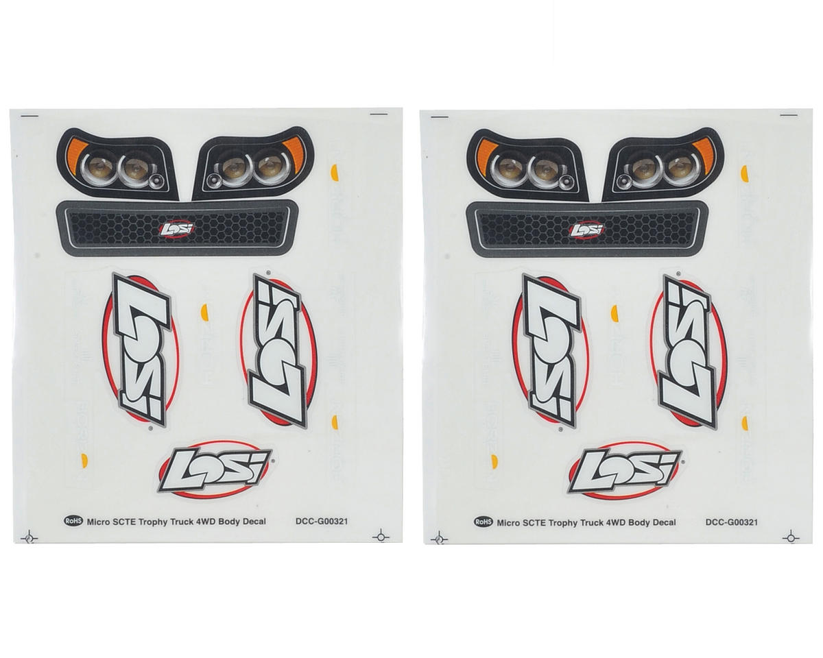 Micro SCTE Sticker Set (2) by Losi