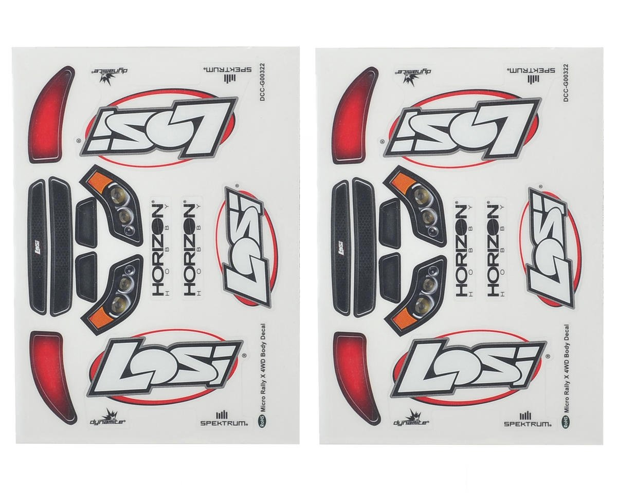 Micro Rally Sticker Set by Losi